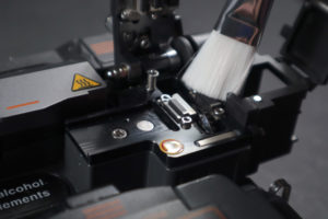 Brush out the cleaver of your fusion splicer to maintain its integrity